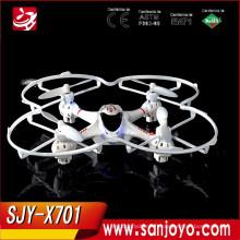 Livraison gratuite MJX X701 2.4g 4 canaux télécommande hélicoptère jouets Mini Quadcopter avec lumière rc PARROT drone kit avion rtf