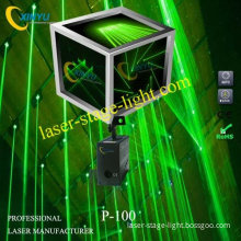 P-100 Single 80mw 532nm Green Fat Beam Laser Net Lighting System For Bar,family Party