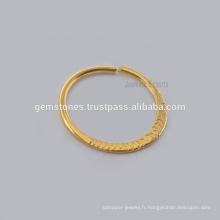 Bague à noeud en forme de plaqué or à la main en Chine, en gros Bague à anneaux en forme de sterling 925 Bijoux Piercing en Septum