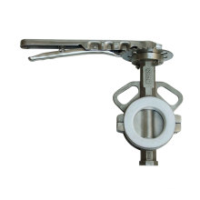 Split Type Stainless Steel Butterfly Valve with Lever Operator