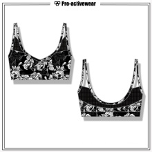 OEM Design Custom Women Polyester Spandex Sexy Sports Yoga Bra