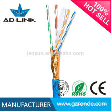 Cable del cable del ftp cat6 23awg / 24awg del cable del Lan