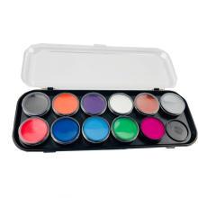 Цветная профессиональная трафаретная краска для лица