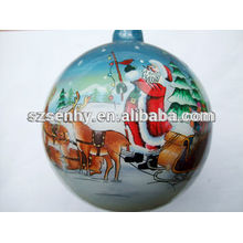 venta al por mayor dentro de los ornamentos pintados de la bola de cristal clara de 75m m
