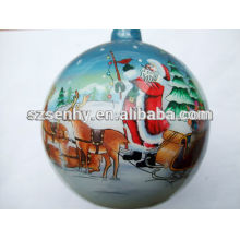 wholesale inside painted 75mm clear glass ball ornaments