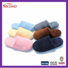Pure Color Coral Fleece Indoor Slippers