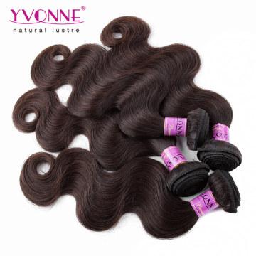Верхний Цвет Ранга #2 Перуанский Человеческих Волос Weave