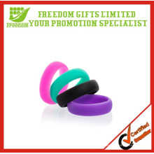 Anéis de casamento de silicone personalizados de alta qualidade promocionais