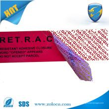 Venta al por mayor del servicio del OEM y de la etiqueta autoadhesiva de la etiqueta del vacío de la garantía