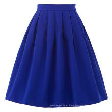 Belle Poque Mujer Falda Azul 2016 Azul Vintage Falda Falda Pinup BP000154-3