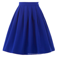 Belle Poque Women Midi Skirt 2016 Blue Vintage Skirts Pinup Skirt BP000154-3