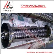 Weber 45mm konische Doppelschnecke und Zylinder / Schneckenzylinder für PVC-Extruder
