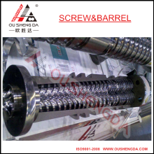 Weber 45 mm doble tornillo cónico y cilindro / cilindro de tornillo para extrusora de pvc