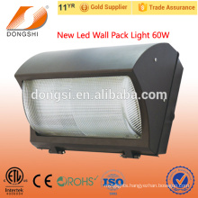 Superior quality ETL listed outdoor wall mounted led wall pack light 60w