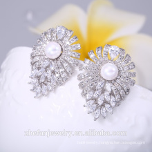 Latest model large crystal lotus charming earring middle east wedding gifts