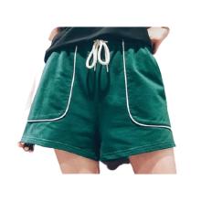 Calça curta feminina de verão sexy simples de algodão