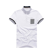 Cheap Wholesale Classic Design White Polo Shirt with Pocket