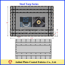 Factory customized printed tarps with brass grommets