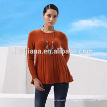 Vestido de camisola feminina 100% cachemira