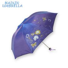 Fashion Ladies' Metal Frame Custom Advertising Wholesale Standard Rain Umbrella Price Best Mini Foldable Travel Umbrella 3 Fold