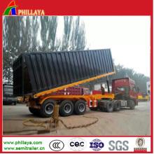 3 Achsen-hydraulischer Behälter-Lader, der halb Anhänger-Kipper anhebt