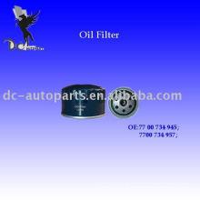 Rotação de fluxo total de jipe no filtro de lubrificante