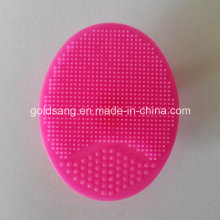 Silicone Facial Beauty Wash Tool Dark Pink Face Cleaning Brush