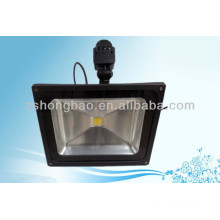 Park 50W IP65 BridgeLux LED flood lighting with motion