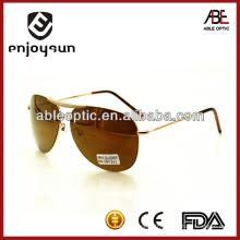 Lunettes de soleil en métal homme pratique avec UV400