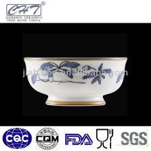 A069 Royal chinese salad porcelain decorative footed bowl unique