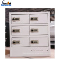 Standalone design metal locker cabinet frame mobile phone charging station