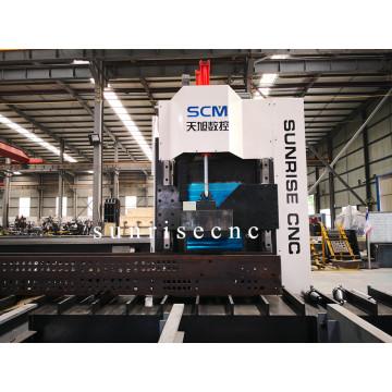Single Spindle Kecepatan Tinggi CNC Beams Drilling Machine