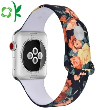 Original Printing Flora Wrist Silicone Smart Watch Straps