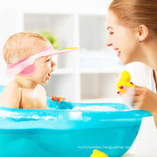 Wholesale cheap creative ear protection children baby shower adjustable soft shower cap