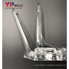 Moule en plastique médical de dilatateur vaginal transparent