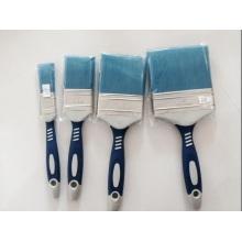 Color azul de plástico alambre de madera mango pincel (YY-619)