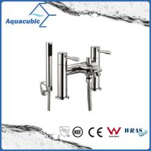 Torneira de banheira de dupla alavanca com suporte com chuveiro de mão (AF6002-2B)