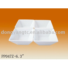 4pcs ceramic snack dish
