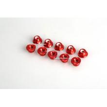 M6 écrou de bride dentelée écrou de bride rouge