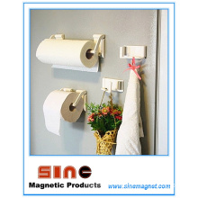 Refrigerator Free Punch Adjustable Magnet Towel/ Tissue Holder
