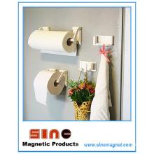 Suporte de toalha / tecido de imã ajustável para perfurador livre de geladeira