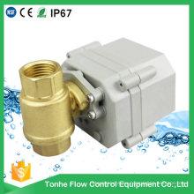 Dn15 NSF61 Latón Válvula de bola eléctrica Precio Cr202 Dos cables