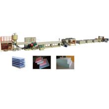 Máquina de fabricación de hoja que hace espuma del PVC del tablero de las decoraciones interiores