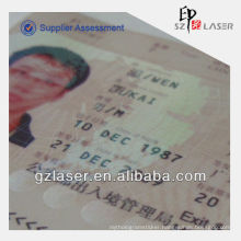 ID card lamination film with hologram effect