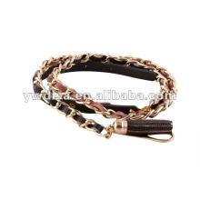 Nova chegada Mulheres Real Leather Skinny Belt