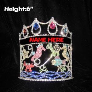 6in cristal concurso de verão coroas com diamantes
