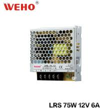 Type mince alimentation à découpage de tension constante de 75W 12V