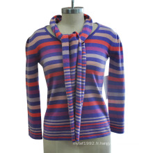 100% cachemire pull en jersey à bas prix avec écharpe