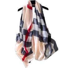 Neue Ankunft Mode Streifen texturierte Muster Damen Muslim Hijab Schal Mode nachgeahmt Seidenschal 2017 Multi tragen Sommer Schal
