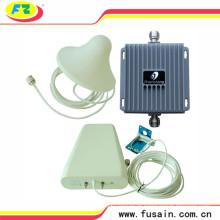 Impulsionador móvel do sinal do telemóvel duplo da faixa GSM / 3G 850MHz 1900MHz do ganho 65dB